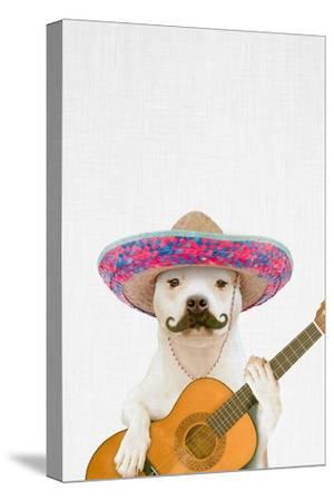 Dog Guitarist-Tai Prints-Stretched Canvas Print
