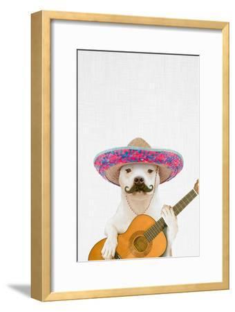 Dog Guitarist-Tai Prints-Framed Premium Giclee Print