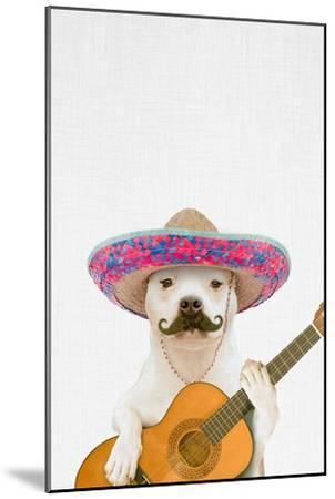 Dog Guitarist-Tai Prints-Mounted Premium Giclee Print