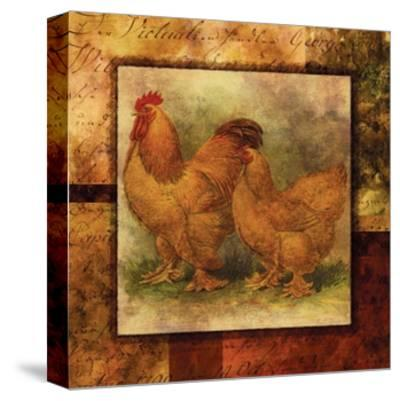 Hen and Rooster II- Studio Voltaire-Stretched Canvas Print