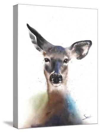Deer Watercolor-Eric Sweet-Stretched Canvas Print