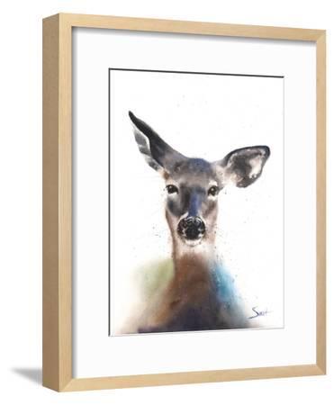 Deer Watercolor-Eric Sweet-Framed Art Print