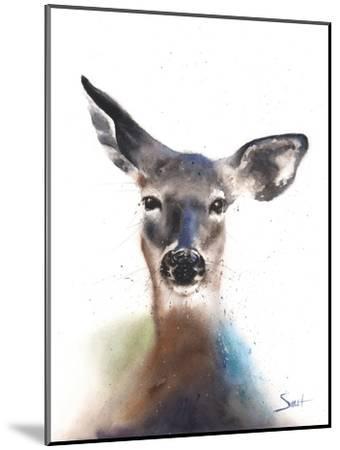 Deer Watercolor-Eric Sweet-Mounted Art Print