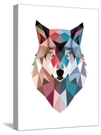 Geo Wolf-Michael Buxton-Stretched Canvas Print