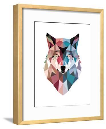 Geo Wolf-Michael Buxton-Framed Premium Giclee Print