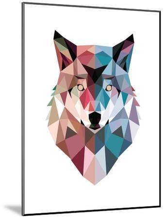 Geo Wolf-Michael Buxton-Mounted Premium Giclee Print