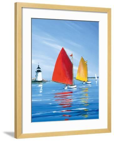 Horizon Light-Sally Caldwell Fisher-Framed Art Print