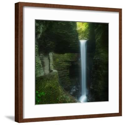 Cavern Cascade-Patrick Zephyr-Framed Photographic Print