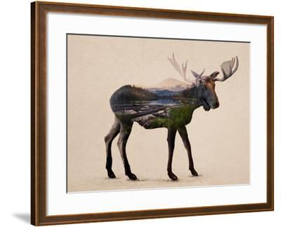 The Alaskan Bull Moose-Davies Babies-Framed Art Print