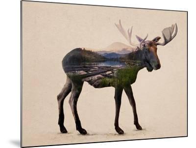 The Alaskan Bull Moose-Davies Babies-Mounted Art Print