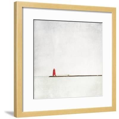 Meet Me at the Red Lighthouse-Margaret Morrissey-Framed Photographic Print