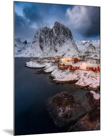 Red Cottages of Hamnoy-Hans Logren-Mounted Photographic Print