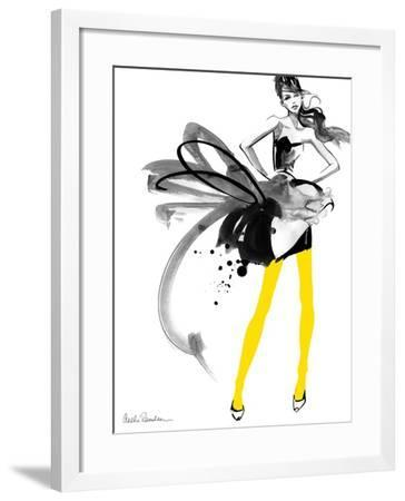 Yellow Tights-Aasha Ramdeen-Framed Art Print