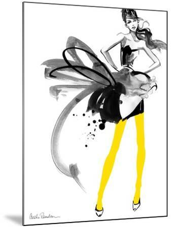 Yellow Tights-Aasha Ramdeen-Mounted Art Print