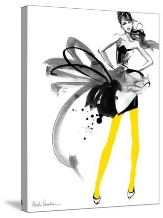 Yellow Tights-Aasha Ramdeen-Stretched Canvas Print