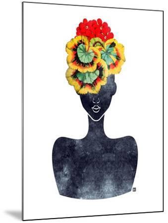 Flower Crown Silhouette IV-Tabitha Brown-Mounted Art Print