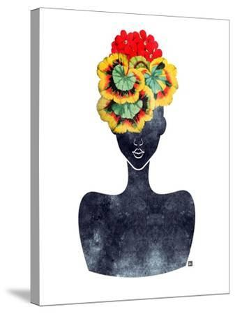 Flower Crown Silhouette IV-Tabitha Brown-Stretched Canvas Print