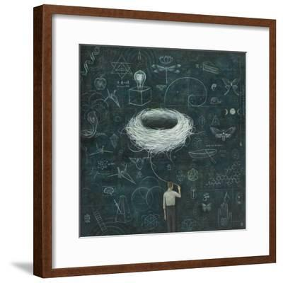 Drafting, Drifting ConsciousNest-Duy Huynh-Framed Premium Giclee Print