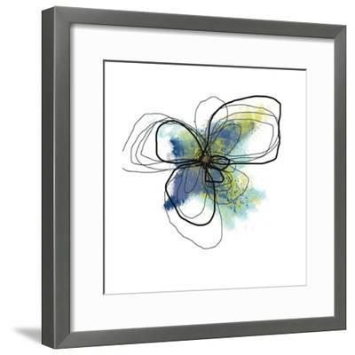 Azure Petals II-Jan Weiss-Framed Art Print