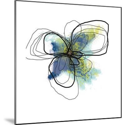 Azure Petals II-Jan Weiss-Mounted Art Print