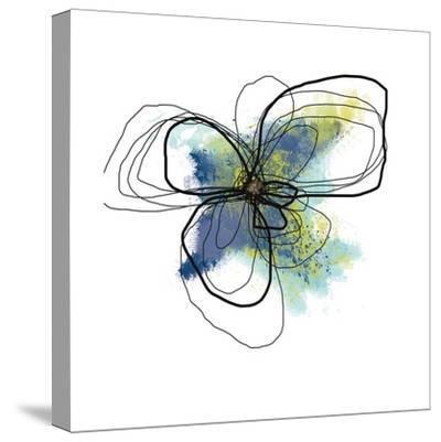Azure Petals II-Jan Weiss-Stretched Canvas Print