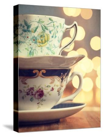 Two Cups Stacked-Amelia Kay-Stretched Canvas Print