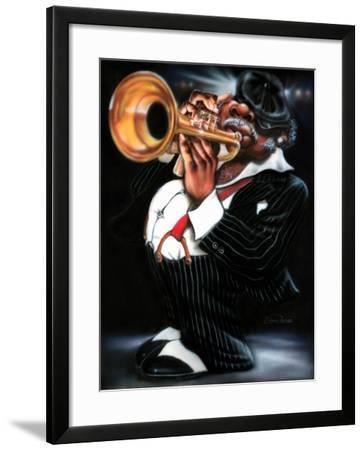 Jazzman Papa Joe-Leonard Jones-Framed Art Print