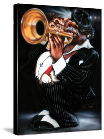 Jazzman Papa Joe-Leonard Jones-Stretched Canvas Print