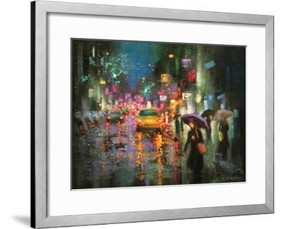 Night Rain in Village-Chin H^ Shin-Framed Art Print