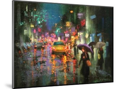 Night Rain in Village-Chin H^ Shin-Mounted Art Print