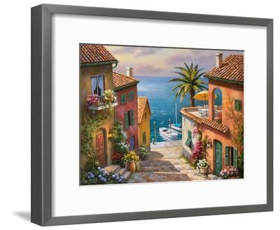 The Villa's Private Dock-Sung Kim-Framed Premium Giclee Print