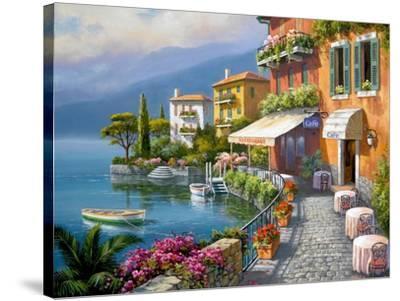 Seaside Bistro Café-Sung Kim-Stretched Canvas Print