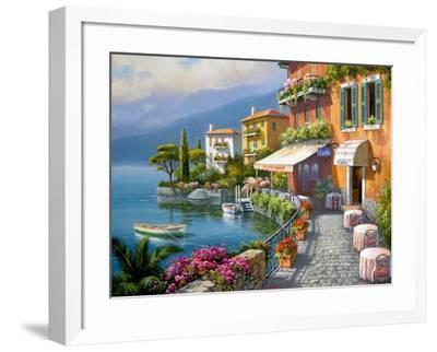 Seaside Bistro Café-Sung Kim-Framed Premium Giclee Print