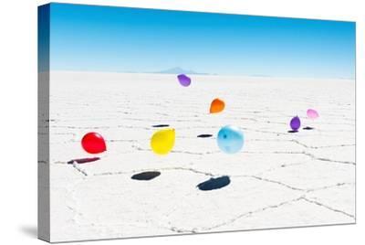 Balloons Three, Salar de Uyuni, Bolivia-Richard Silver-Stretched Canvas Print