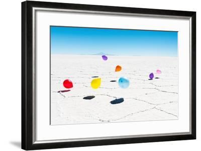 Balloons Three, Salar de Uyuni, Bolivia-Richard Silver-Framed Photographic Print