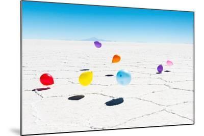 Balloons Three, Salar de Uyuni, Bolivia-Richard Silver-Mounted Photographic Print