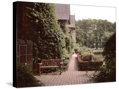Banc de Jardin #27-Alan Blaustein-Stretched Canvas Print