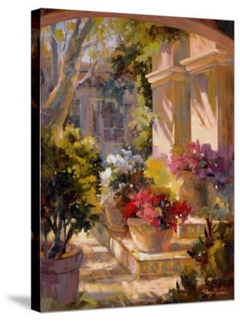 Flowered Courtyard-Betty Carr-Stretched Canvas Print