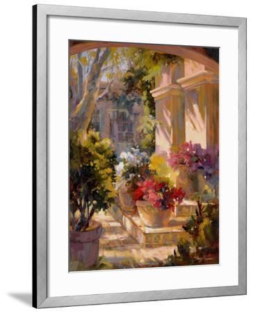 Flowered Courtyard-Betty Carr-Framed Art Print