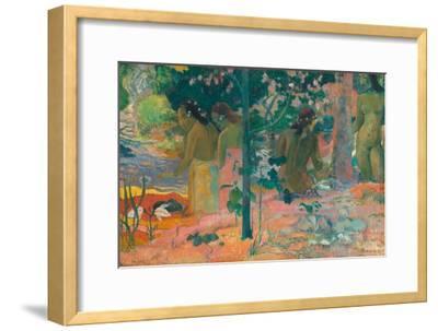 The Bathers-Paul Gauguin-Framed Art Print
