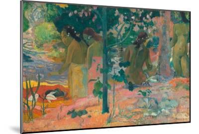 The Bathers-Paul Gauguin-Mounted Art Print