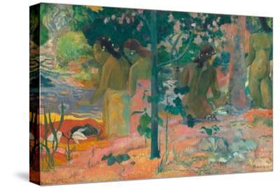 The Bathers-Paul Gauguin-Stretched Canvas Print