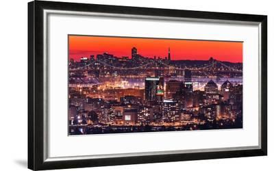 Oakland SF Twilight-Greg Linhares-Framed Photographic Print
