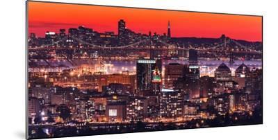 Oakland SF Twilight-Greg Linhares-Mounted Photographic Print