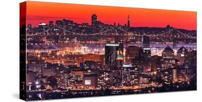 Oakland SF Twilight-Greg Linhares-Stretched Canvas Print