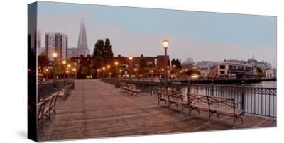 Broadway Pier Pano #113-Alan Blaustein-Stretched Canvas Print