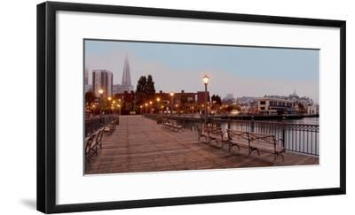 Broadway Pier Pano #113-Alan Blaustein-Framed Photographic Print
