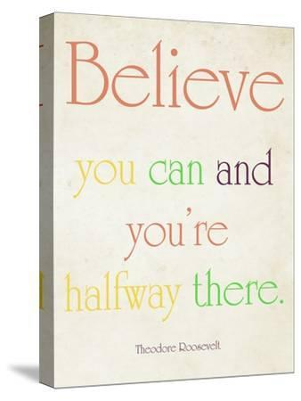 Believe You Can-Sylvia Coomes-Stretched Canvas Print