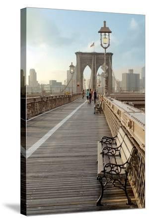 Brooklyn Bridge Walkway No. 2-Alan Blaustein-Stretched Canvas Print