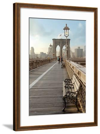 Brooklyn Bridge Walkway No. 2-Alan Blaustein-Framed Photographic Print
